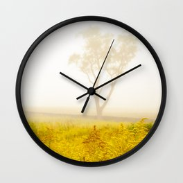 Dreams of Goldenrod and Fog Wall Clock