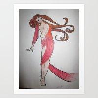mucha Art Prints featuring Mucha-esque by Shawna Smyth