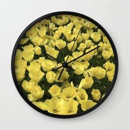 Yellow_Tulips Wall Clock