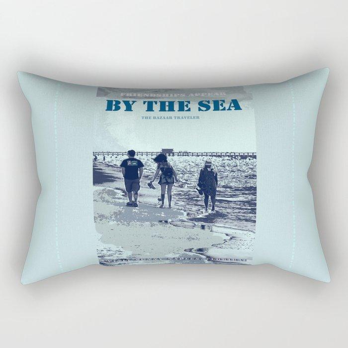 Bazaar Traveler's Friendships Appear Rectangular Pillow