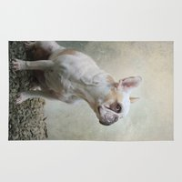 french bulldog Area & Throw Rugs featuring French bulldog  by Pauline Fowler ( Polly470 )