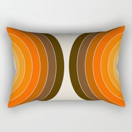 Golden Sonar Rectangular Pillow