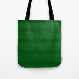 Emerald Green Organic Stripes Tote Bag