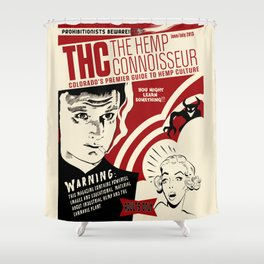 THC Reefer Madness Shower Curtain