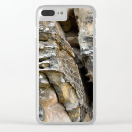 Where Ancients Walked Natural Earth Art Rock Texture Clear iPhone Case