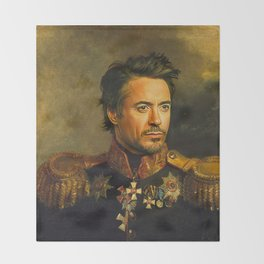 Robert Downey Jr. - replaceface Throw Blanket