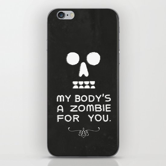 Zombie Love iPhone & iPod Skin