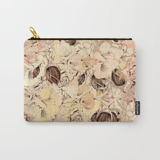 pattern Flowers Carry-All Pouch