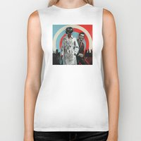 superheroes Biker Tanks featuring Superheroes SF by Troy DeRose