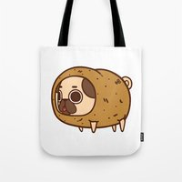 potato Tote Bags featuring Puglie Potato by Puglie Pug