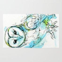 Aqua Tyto Owl Rug