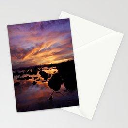 Purple Sunset Stationery Cards
