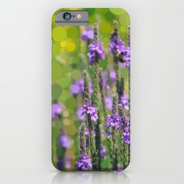 LOOSESTRIFE purple invasive wildflower abstract design iPhone Case