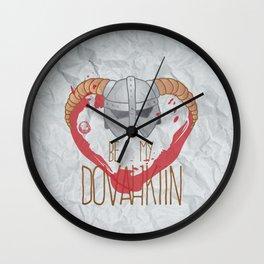 be my dovahkiin Wall Clock