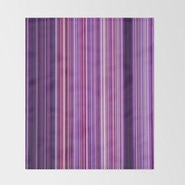 Pink Purple Stripes Throw Blanket