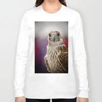 falcon Long Sleeve T-shirts featuring Falcon  by Bader Al Awadhi