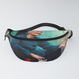 Vietnamese Woman with White Cat Fanny Pack