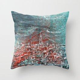 View of Paris Throw Pillow