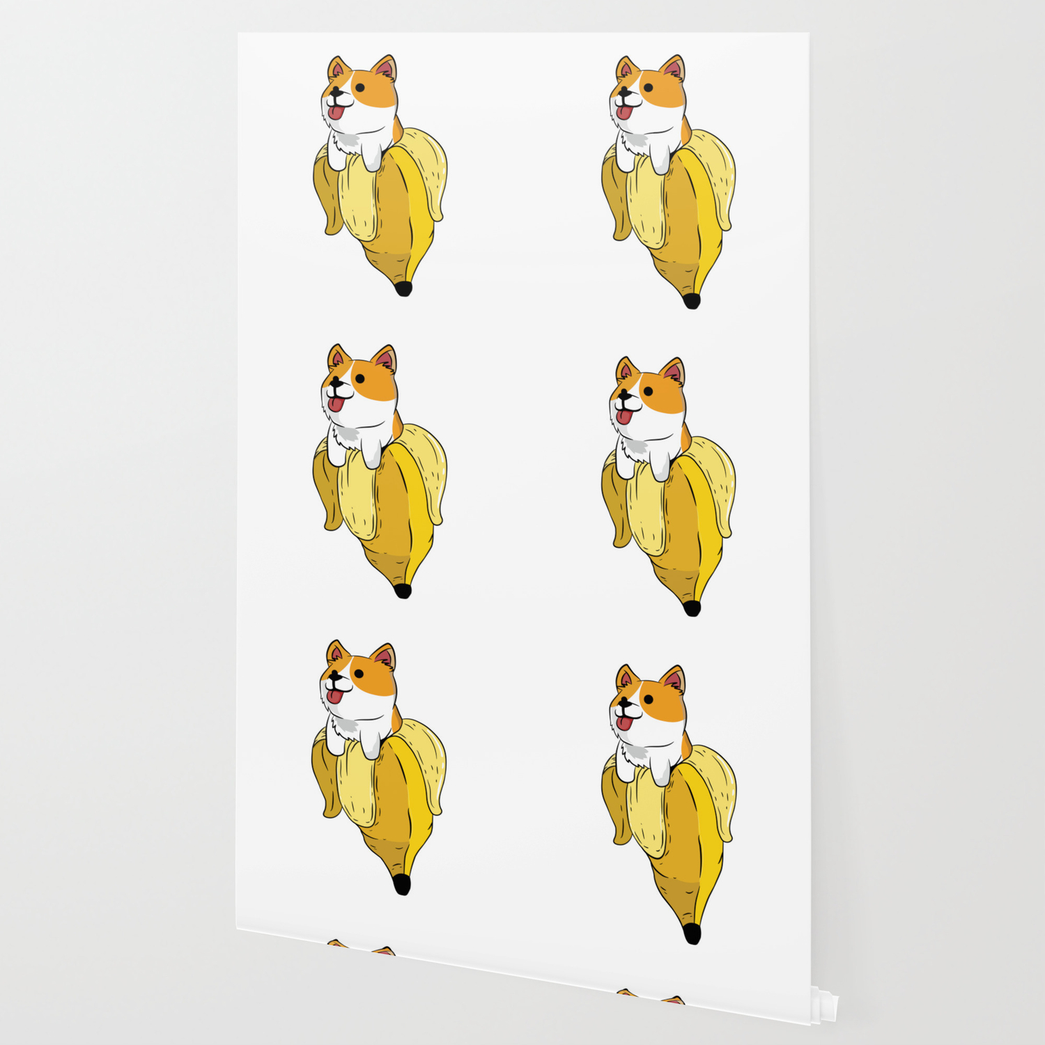 Banana Corgi Cute Dog Lover Gift Fruit Wallpaper