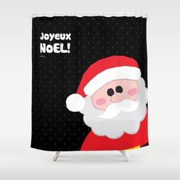 Joyeux Noel - Santa Shower Curtain