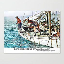 Oystering, Mobile Bay, Alabama 1911 Canvas Print