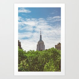 Color Empire State Building Art Print