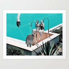 Crazy Water Art Print
