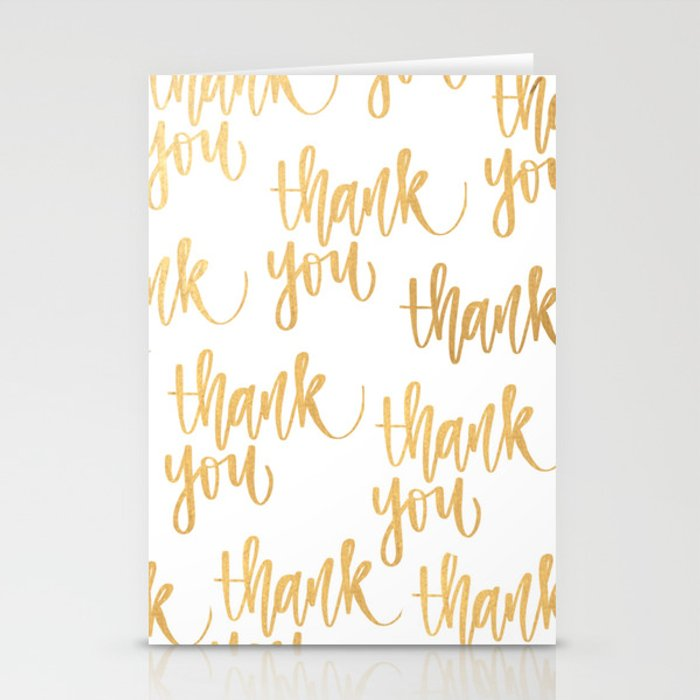 Thank You Card Stationery Cards