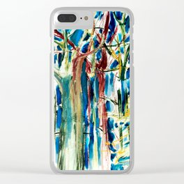 Trees in the wind Clear iPhone Case