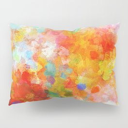 Cheerful Abstract Painting Pillow Sham