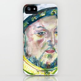 HENRY VIII of ENGLAND watercolor portarit iPhone Case
