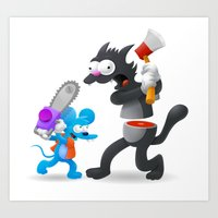 Itchy & Scratchy Art Print