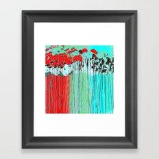 Long Stem Abstract Flowers Framed Art Print