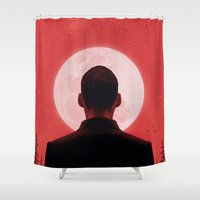 camus Shower Curtains featuring Byronic I by Boris Pelcer