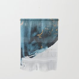 Sapphire and Gold Abstract Wall Hanging