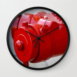 New York City Red Wall Clock