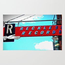 Reckless Records ~ chicago sign Rug