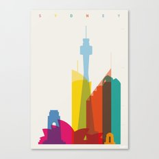Shapes of Sydney. Accurate to scale Canvas Print