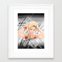 miley Framed Art Prints featuring Miley by Marven RELOADED