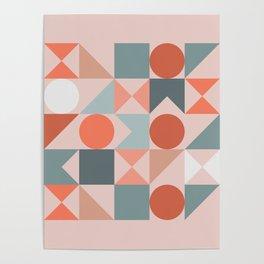 Mid Century Modern  Geometric 06 Poster