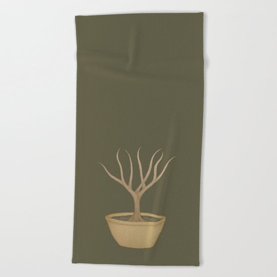 Bonsai Tree Beach Towel