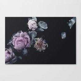 Vintage Floating Florals Canvas Print
