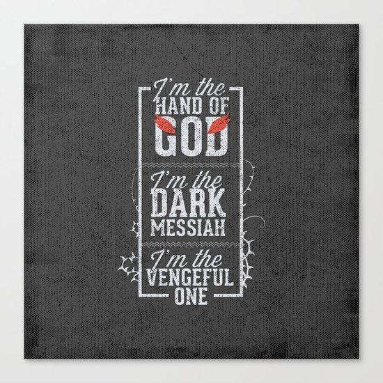 Iam the hand of God - Typography Canvas Print