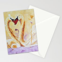 A Little Kiss   Un petit bec Stationery Cards