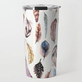 Many Feathers Travel Mug