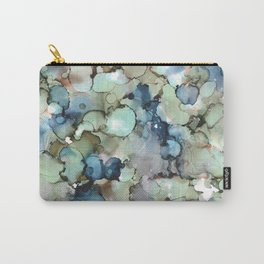 Alcohol Ink Sea Glass Carry-All Pouch