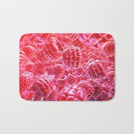 Fresh raspberry Bath Mat