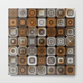 Geometric chocolate pattern Metal Print