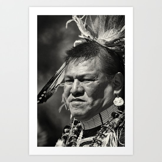 Dakota chief Art Print