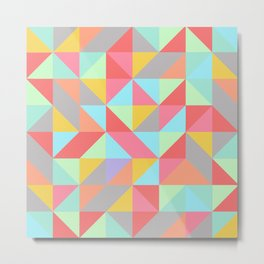 Quilt Triangles Metal Print
